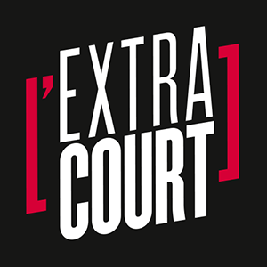 Logo L'extra court - fond noir