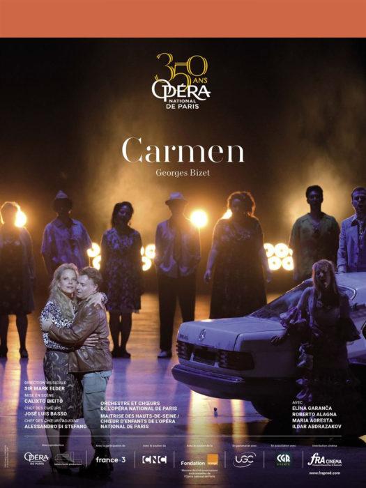 Affiche de l'opéra filmée Carmen