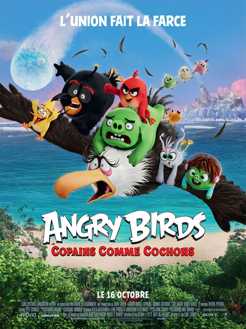 Affiche du film Angry birds, copains comme cochons