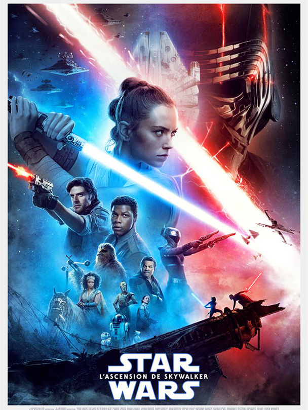 Affiche du film Star wars l'ascension de Skywalker