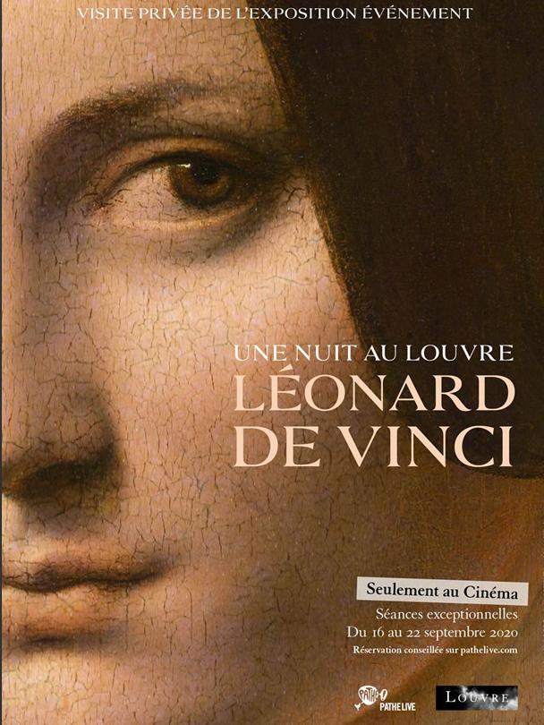 Affiche de l'expo Léonard de Vinci