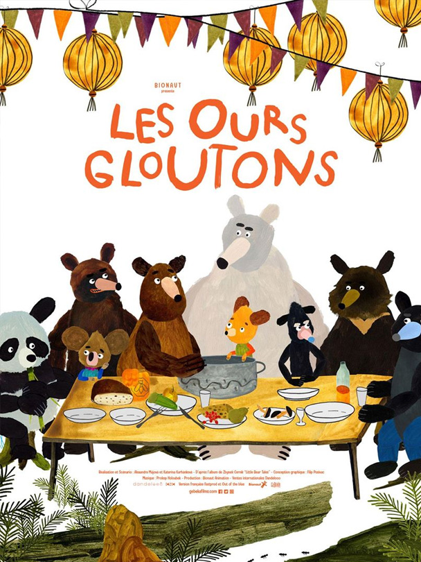 Affiche du film Les ours gloutons