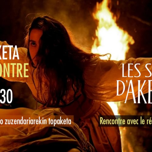 Bandeau ciné-rencontre Les sorcières d'Akelarre le 30 août à 20 heures 30