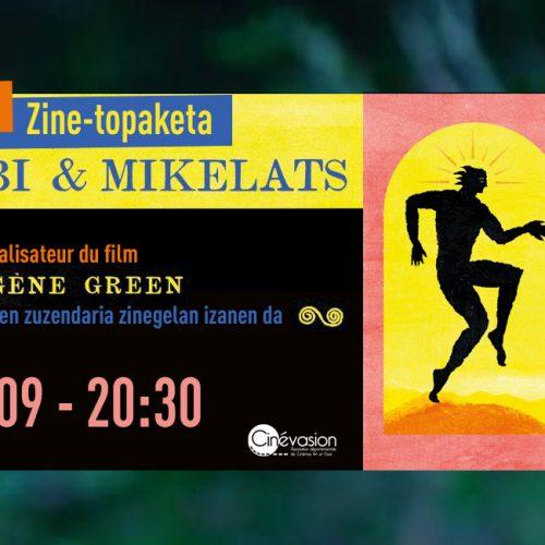 Bandeau ciné-rencontre Atarrabi et Mikelats le 9 septembre à 20 heures 30